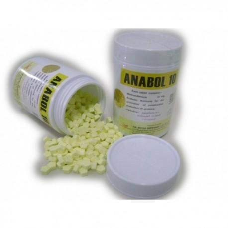 10mg de Anabol britânico dispensário 100 comprimidos