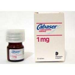 Cabaser 1 mg Cabergoline (Dostinex) 20 comprimés (1 mg / onglet)