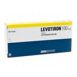 Levotiron T4 (Euthyrox) Abdi Ibrahim, Turkki 100 välilehteä (100 mikrogrammaa / välilehti)