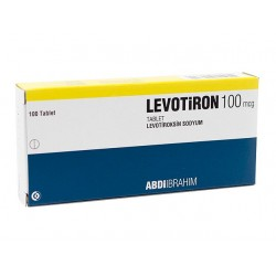 Levotiron T4 (Euthyrox) Abdi Ibrahim, Tyrkia 100 tabletter (100mcg / tab)
