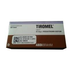 T3 Tiromel (Cytomel) Abdi Ibrahim 100 -välilehti (25mg / välilehti)