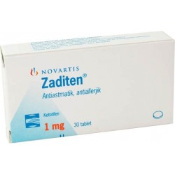 Ketotifen (Zaditen) 1 mg Novartis 30 tabletten (1 mg / tabblad)