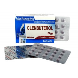 Clenbuterol Balkan Pharmaceuticals 60 tabbladen (40mcg / tabblad)