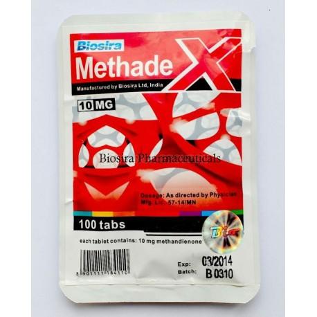 Methadex Biosira (Methandienone, Dianabol) 100tabs (10mg/tab)