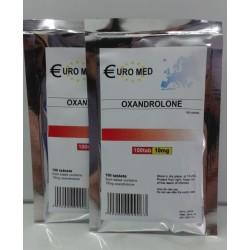 Oxandrolona 10mg (Anavar) Euromed 100 comprimidos (10mg/guia)