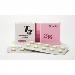 T3 Uni Pharma, Grekland 30tabs (25mcg/flik)