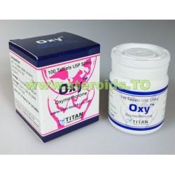 Oxy Titan HealthCare (Oxymethlone, Anadrol) 100tabs (50 mg / flik)