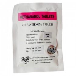 Methanabol tabletter brittiska Dragon 100 tabs [10mg/tab]