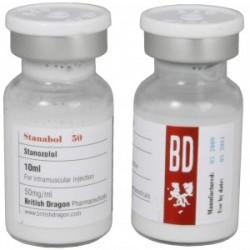 Stanabol 50 britiske Dragon 10ml flaske [50mg / 1ml]