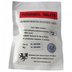 Turanabol tabletter brittiska Dragon 200 flikar [10mg/tab]