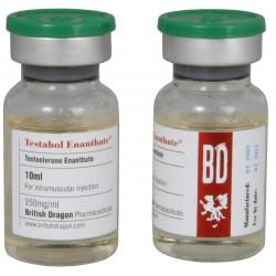 Testabol Enanthate britiske Dragon 10ml flaske [250mg / 1ml]