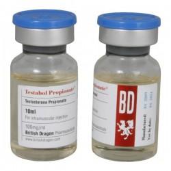 Frasco de 10ml de Testabol propionato British Dragon [100mg/1ml]